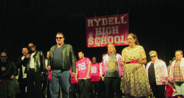 """The Synchrony Arts Productions cast of """"Grease"""" perform at the Catherine Hickman Theater during dress rehearsal."""