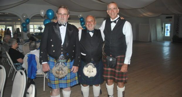 "Rob Sterling, Scott Morse, and Mike Hood represent their ancestral Scotland by dressing in authentic Scottish garb. Sterling, left, was even named as SPIFF's Scotland's person of the year, which according to him means, ""I was not at the meeting where they made nominations and I was not able to decline."" But his fellow Scots say that it means that he greatly helps out with SPIFFS."