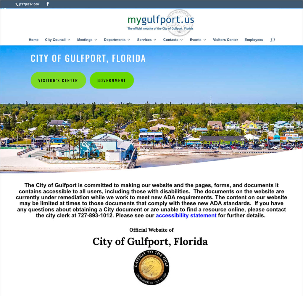 ADA Request Launches Changes in Gulfport's Website – The Gabber