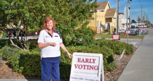 Gulfport Neighborhood Center site manager Valerie Smith wants voters to know they can vote early at the Gulfport Neighborhood Center.