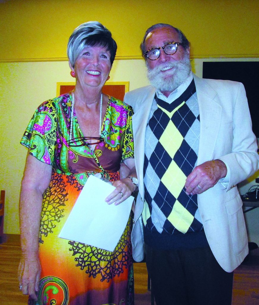 Dianne and Peter Hargitai both read original poetry at his final reading as Gulfport's first poet laureate.