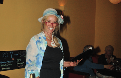 Lydia the Encyclopedia hosts trivia with a local flare Tuesdays at Boca Bay Grille.