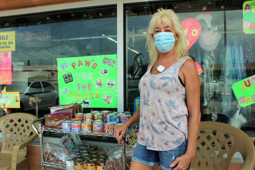 Deb St. John, owner and operator of Deb's Laundry and creator of the Paws for the Cause pet supply pantry.