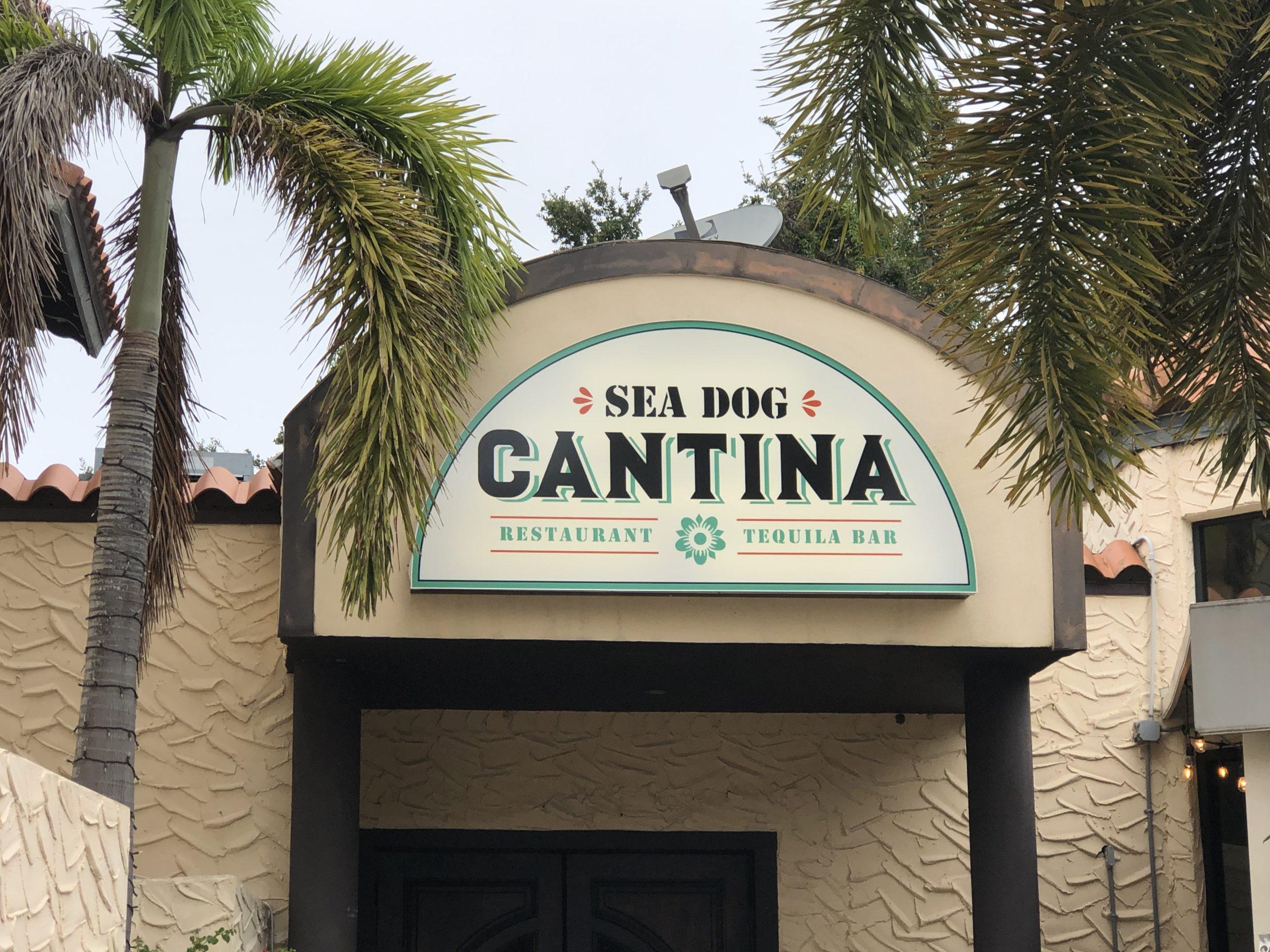 Sea Dog Cantina sign