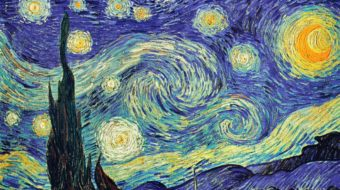 The starry night by Van Gogh
