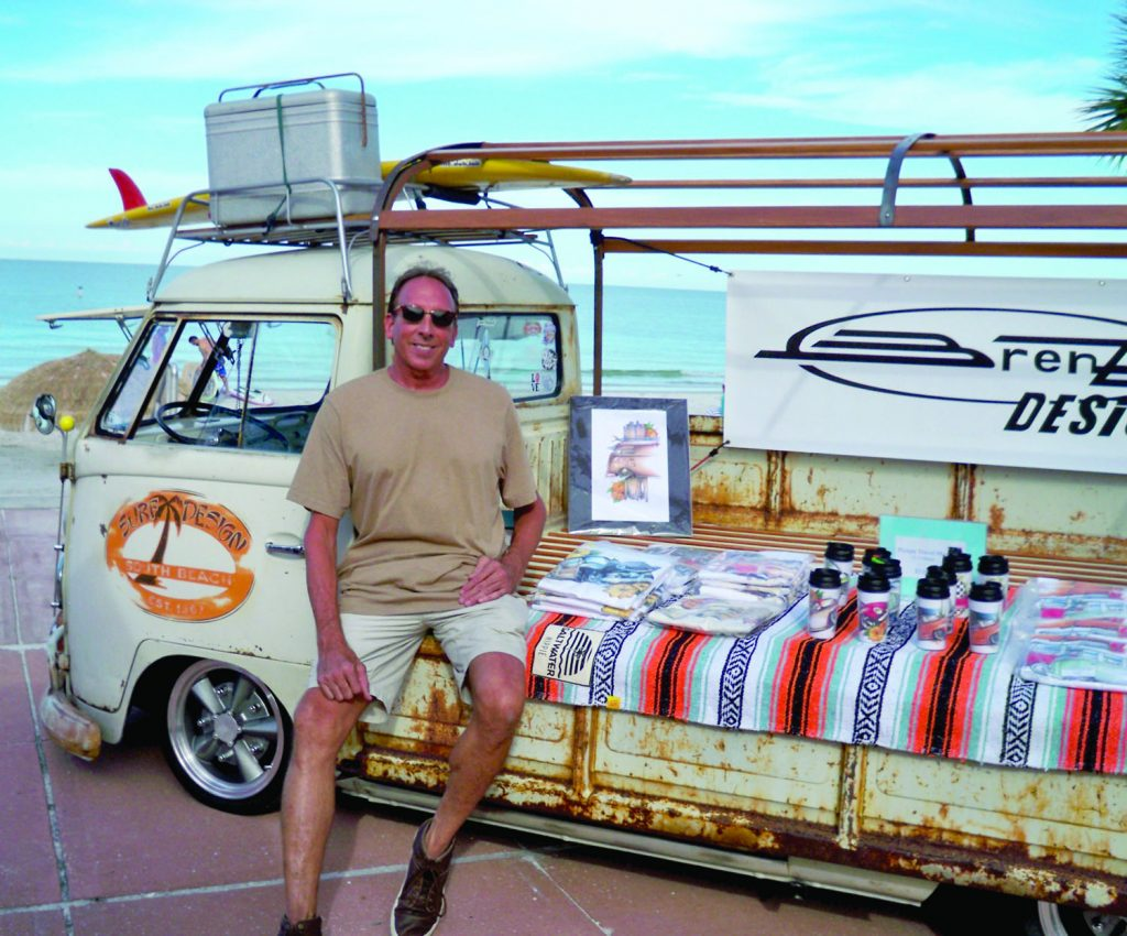 "Brent Gill has been a part of the VW Beach Bash for the past six years. ""I've been into cars for a long time and got hooked on VWs,"" he said."