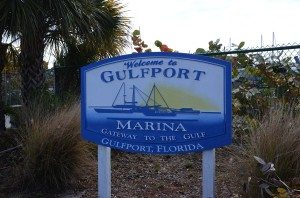 Gulfport Marina Sign