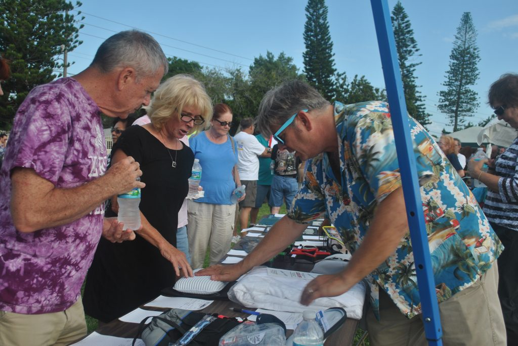 T-shirts, bar decorations, Rowdies tickets, Rays jackets, and original art were all things people had chances to bid on during the silent auction.