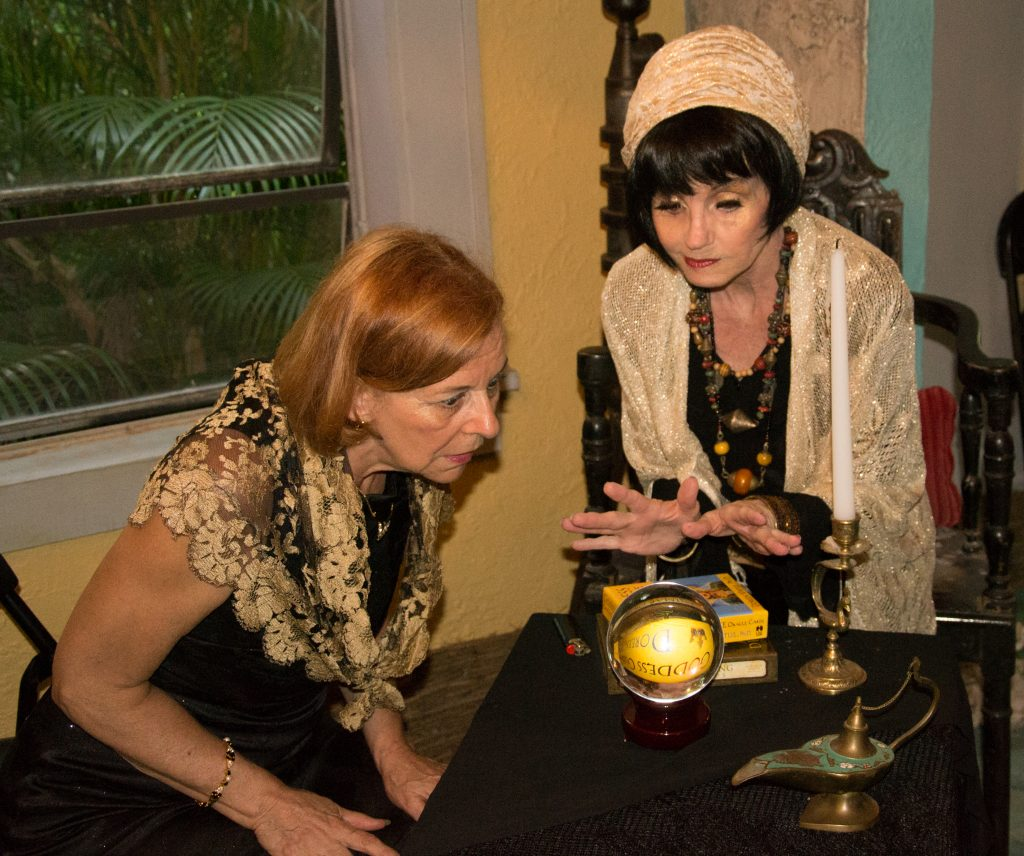 "Actors Deb Birchler, left, and Linda Fajvan in ""The Charlatan,"" written by Deborah Frethem. Photo courtesy of Craig Frethem."