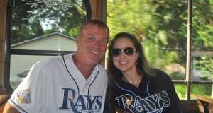 Gulfport Ward 1 Councilman Dan Liedtke and wife Michelle were all aboard for the Rays game on the Gulfport trolley Thursday, August 27. The next trolley to the game will be September 17.