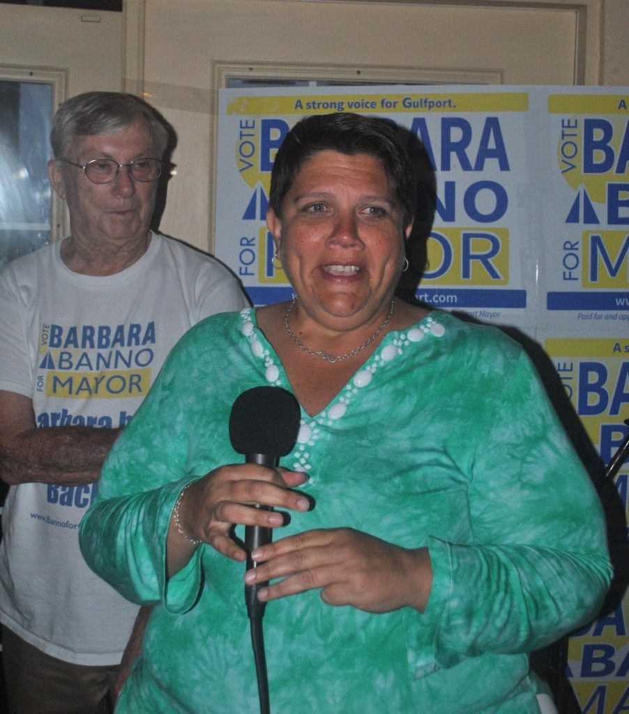 Mayoral candidate Barbara Banno gave a heartfelt speech to supporters at O'Maddy's Tuesday night.