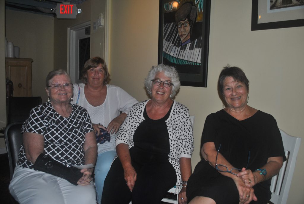 April Thanos was surrounded by supporters Tuesday night in the wake of her narrow loss to incumbent Liedtke.