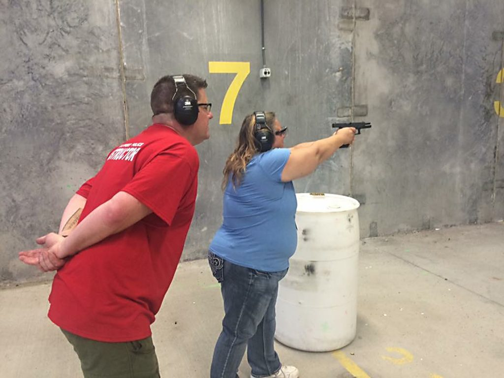 """I've always been anti gun,"" said Citizens' Police Academy participant Denise Lowe of Gulfport. But, after going through classroom training covering safety procedures then practice on the firing range, she said, ""I felt empowered. I had a big shot of confidence that I could handle a weapon so well. It was shocking to me."" Now, Lowe says, she's thinking of getting her own Glock and a concealed weapons permit."