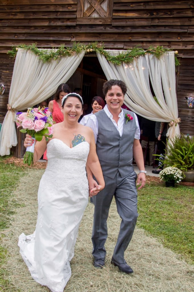 Andrea DeFilippo and Erin Bell wedding ceremony October 2015