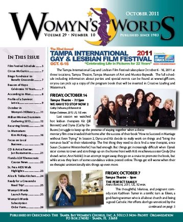Friday, Oct. 14, 2011 Womyn's Words cover_handout