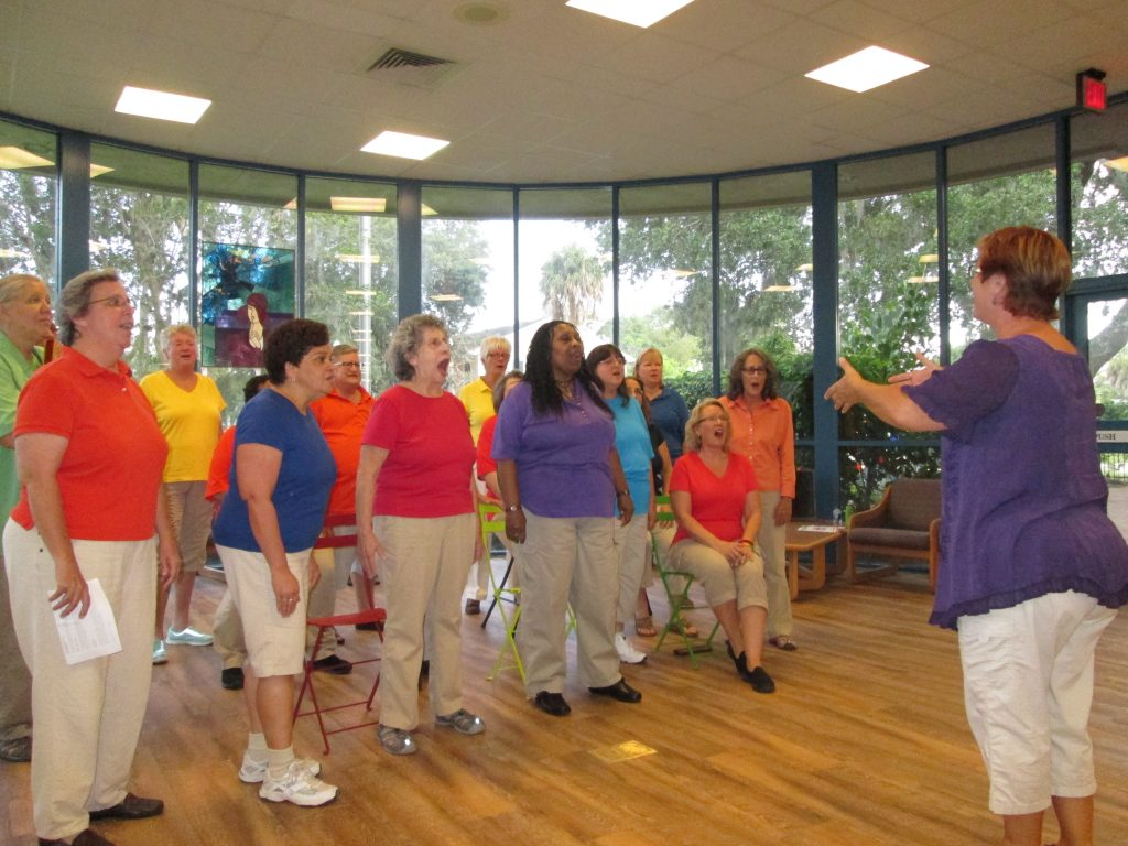 Crescendo: The Tampa Bay Women's Chorus performed for the audience.