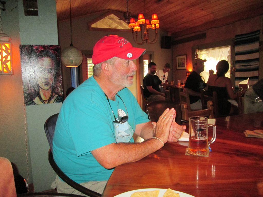 """Wednesday night won't be the same without Peg's. For many years, I enjoyed great friends, food and beer each week. Peg's will be missed, and I wish Peg and Tony good luck on their new venture,"" says Paul Kavin of St. Petersburg, pictured here at the bar inside Peg's."