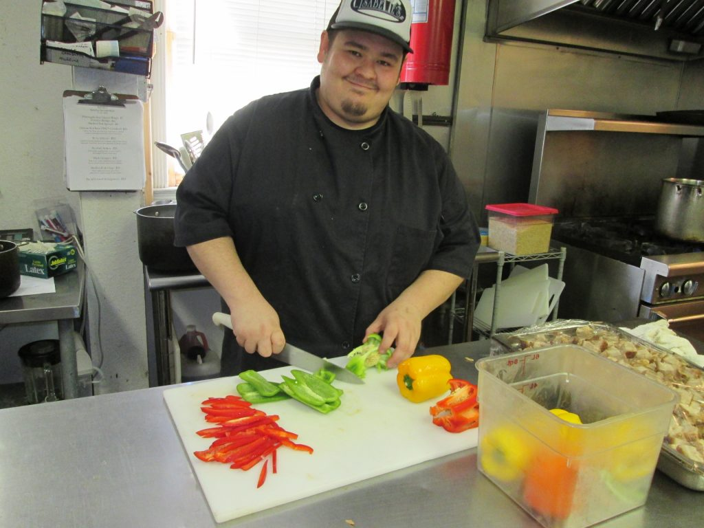 Phill Rivenbark works his magic in the kitchen at Isabelle's restaurant at The Historic Peninsula Inn.