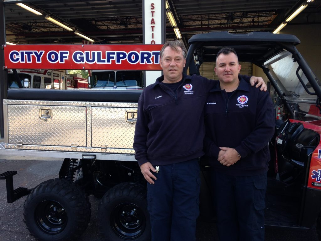 Firefighter/paramedic Matthew Steindl and firefighter/EMT Brian Campbell were manning the special rescue team at the race. They saved a 53-year-old man who collapsed in cardiac arrest.