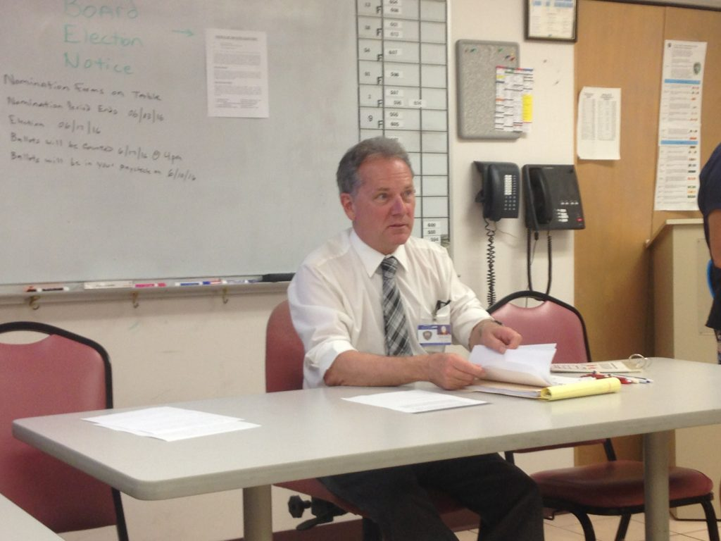 Gulfport Police Department Volunteer Coordinator Richard Grinberg speaks at a recent CERT meeting.
