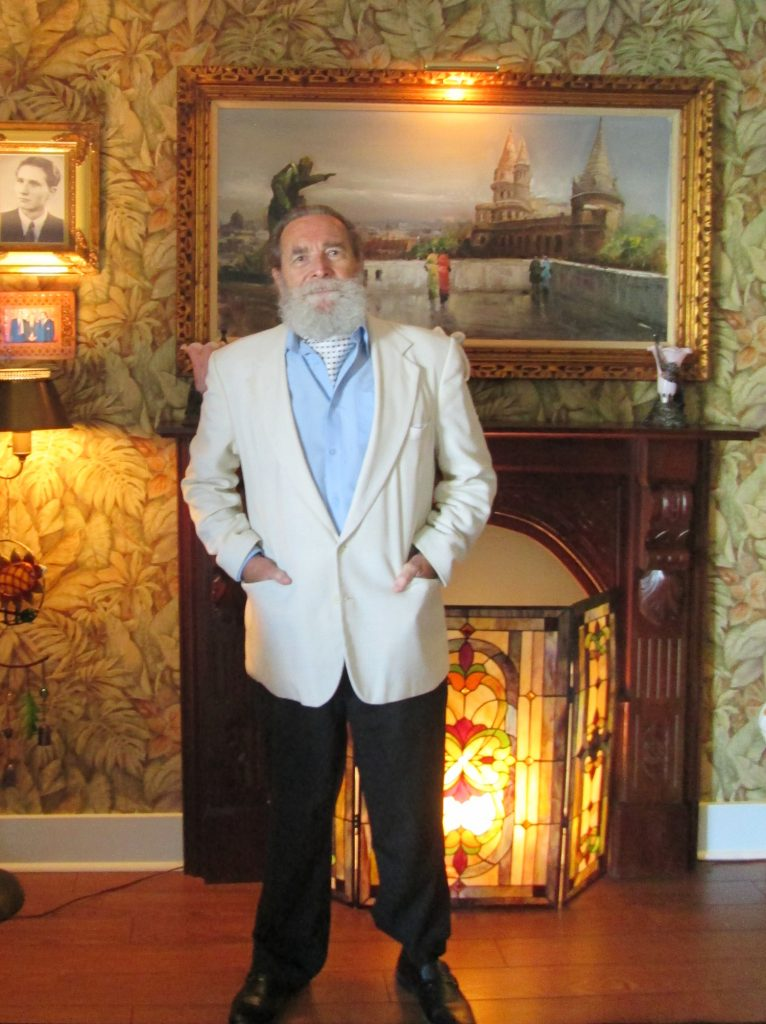 Professor Peter Hargitai at home in Gulfport.
