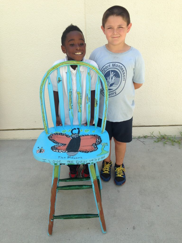 Xavier Murph, Left, And Ayden Gross, Show Off Their Chair, Which Is