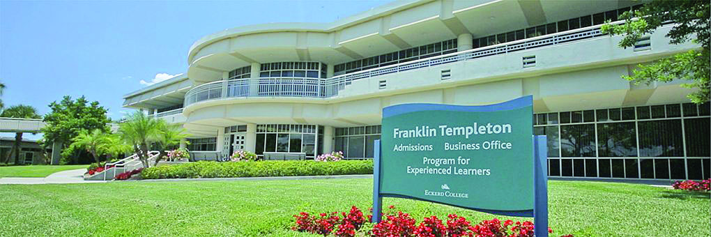 The Franklin Templeton building on Eckerd's campus is also home to the school's Program for Experienced Learners. Eckerd announced September 9 that it is ending the program after 35 years. Photo courtesy of Eckerd College.