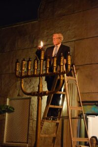 Tiki Torch Menorah