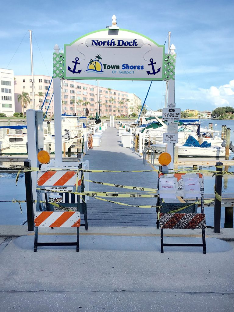 A hasty barricade was erected at the docks after an August 2 meeting.