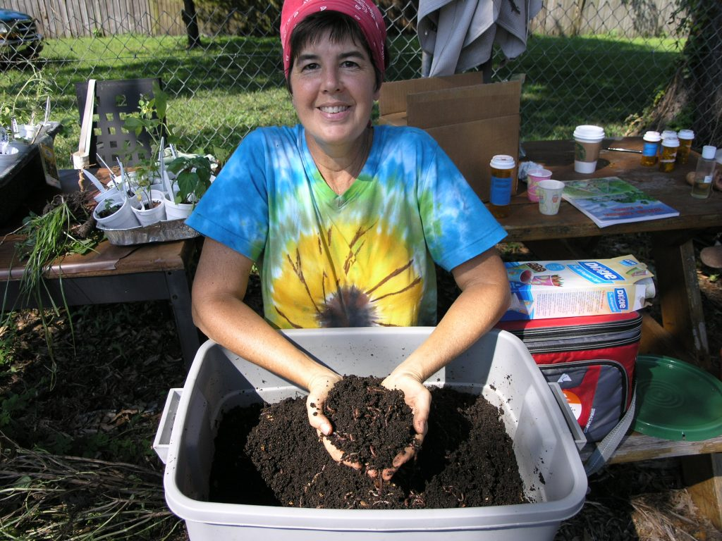 "Laura Clarke of Gulfport is the ""worm connoisseur"" in charge of red wigglers used for composting."
