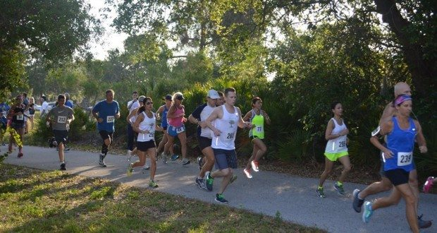 The 8th Annual Blue Ribbon 5K Run and 1 Mile Family Walk on April 18 during Child Abuse Prevention Month, sponsored by the St. Pete Exchange Club, helped raise funds for the Parent Aide Program. Photo courtesy of the Suncoast Center.